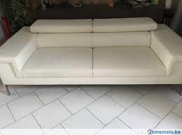 canap blanc 3 places canapé blanc 3 places design a vendre 2ememain be
