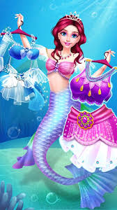 mermaid princess makeup fashion salon android apps