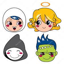 Halloween Monster Masks by Halloween Monster Masks U2014 Stock Vector Kakigori 10032982