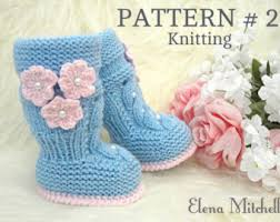 Sho Bayi p a t t e r n baby booties baby shoes pattern knitted baby
