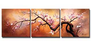 Plum Home Decor by Amazon Com Ode Rin Oil Painting On Canvas Pink Plum Blossoms