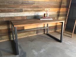 Modern Wood Desk Reclaimed Wood Desk Industrial Modern With Regard To Popular