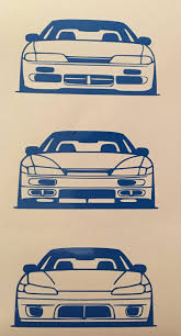 drift cars drawings nissan 240sx 180sx s13 s14 s15 silvia kouki zenki type x front