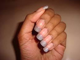 artzeenailz silver glitter tips