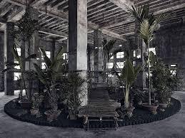 bureau a bureau a install temporary garden inside warehouse