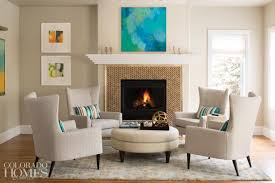 Kravet Ottoman In The Family Room Four Wing Chairs From Room Board And A
