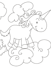 unicorn flying clouds coloring pages download free unicorn