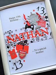 13th 14th 15th birthday card for boys personalised son grandson