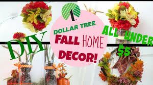 how to diy home decor how to diy fall home decor using only dollartree items youtube