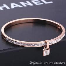titanium bangle bracelet images European exaggerated rose gold engraved key bangle bracelet women jpg