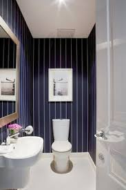 Striped Bathroom Walls Pretty Little Powder Room Http Liketk It 2qccq Liketkit