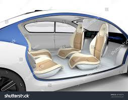 autonomous cars interior concept car offer stock illustration