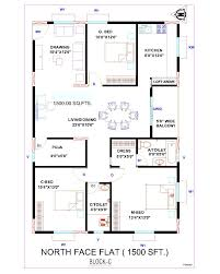 house plan 1200 sqft north facing arts