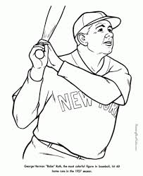 free baseball coloring pages regarding inspire in coloring page