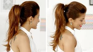 ponytail hair ponytail trick how to add volume to your ponytail and