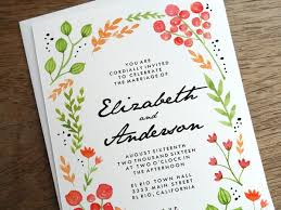 printable wedding invitation watercolor flowers e m papers