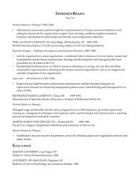 hr resume exles sle resume human resources manager exles of human resource
