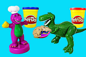 play doh barney friends bakery toy story rex dinosaur