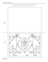cute valentine u0027s card color printable activity kids
