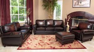 Brown Leather Sofas Abbyson Living Multi Tone Brown Leather Sofa Set Youtube