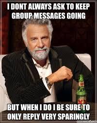 Group Message Meme - messages