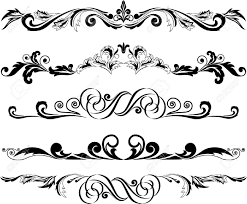 decoration clipart horizontal pencil and in color decoration