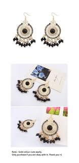 earrings malaysia p117580 black bead dangling bohemian korean earrings malaysia