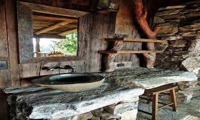 rustic cabin bathroom designcbedeae rustic log cabin bathroom
