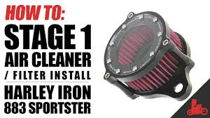 how to stage 1 air cleaner filter install on harley sportster