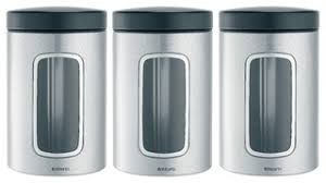 modern kitchen canisters brabantia window canister set of 3 modern kitchen canisters