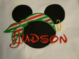 same monogram christmas mickey mouse pirate applique shirt for