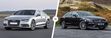 audi a7 vs mercedes cls comparison carwow