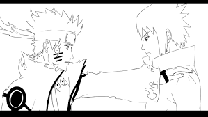 oathkeepersoraxiii draws naruto kyuubi chakra mode u0026 sasuke