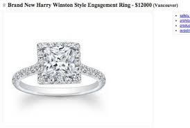 craigslist engagement rings for sale vancouver craigslist ad for 12k ring proves diamonds aren t
