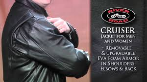 armored leather motorcycle jacket river road cruiser leather motorcycle jacket review youtube