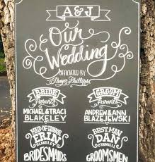 wedding program chalkboard sign wedding pencil and in color sign wedding