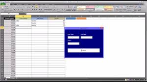 adding data to an excel worksheet using textbox controls on a vba