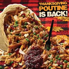 plaid nation can gobble gobble up the thanksgiving in a box poutine