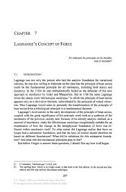 lagrange u0027s concept of force springer