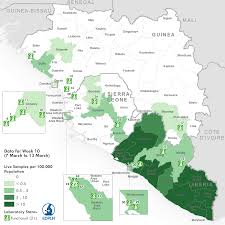 Africa Map Test by Ebola Situation Report 16 March 2016 Ebola
