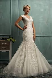 v neck illusion back ivory tulle lace wedding dress