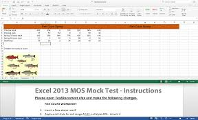 excel 2013 u2013 mock mos test king county library system