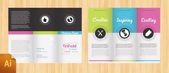 tri fold brochure ai template illustrator tri fold brochure template illustrator brochure