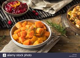 thanksgiving roasted squash with pepper and herbs stock