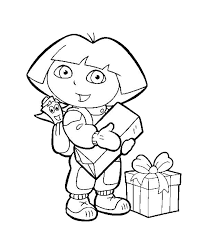 map and dora the explorer coloring pages cartoon coloring pages