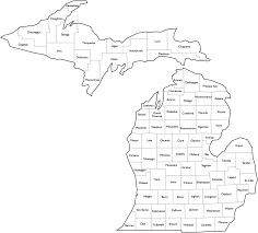 map of michigan michigan county map with names