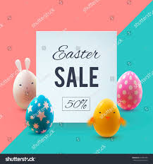easter eggs sale easter sale banner beautiful colorful eggs stock vector 613984232