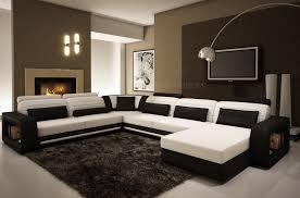 canape blanc noir canapé d angle en cuir 6 8 places mobilier privé