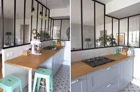 photo cuisine semi ouverte home tour ma cuisine semi ouverte avec verrière déco