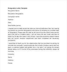 template letters of resignation professional resignation letter professional resignation letter